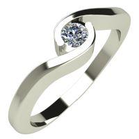 Годежен Пръстен бяло злато с диамант Accent 0,07 ct. 292