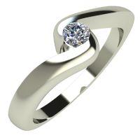 Годежен Пръстен бяло злато с диамант Accent 0,07 ct. 295