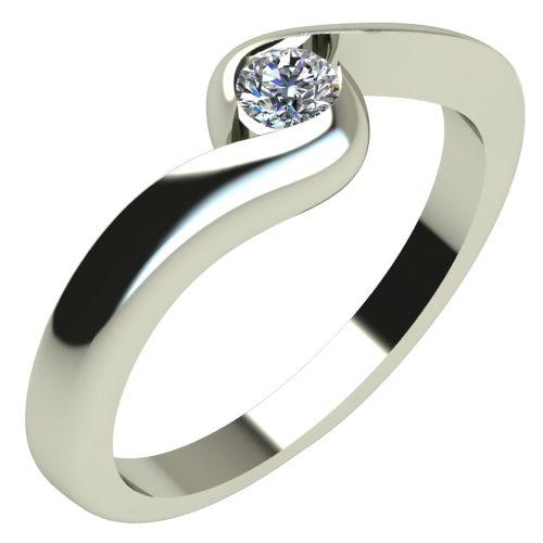 Годежен Пръстен бяло злато с диамант Accent 0,12 ct. 288