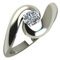 Годежен Пръстен бяло злато с диамант Accent 0,17 ct. 268