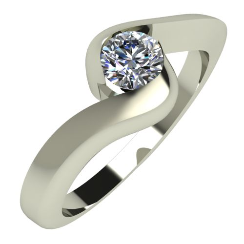 Годежен Пръстен бяло злато с диамант Accent 0,17 ct. 297