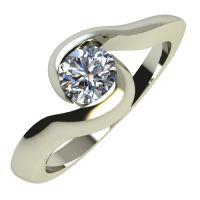 Годежен Пръстен бяло злато с диамант Accent 0,25 ct. 700
