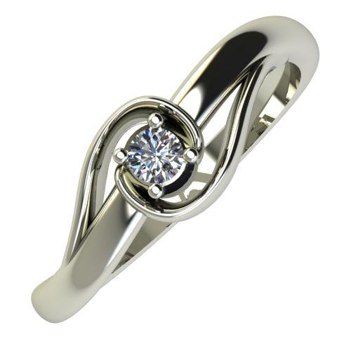 Годежен Пръстен бяло злато с диамант Airs 0,04 ct. 664