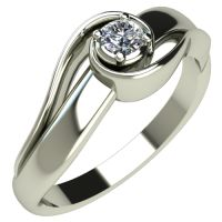 Годежен Пръстен бяло злато с диамант Airs 0,07 ct. 311