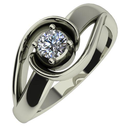 Годежен Пръстен бяло злато с диамант Airs 0,12 ct. 440