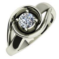 Годежен Пръстен бяло злато с диамант Airs 0,17 ct. 441