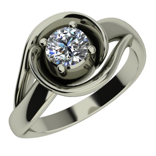 Годежен Пръстен бяло злато с диамант Airs 0,25 ct. 442