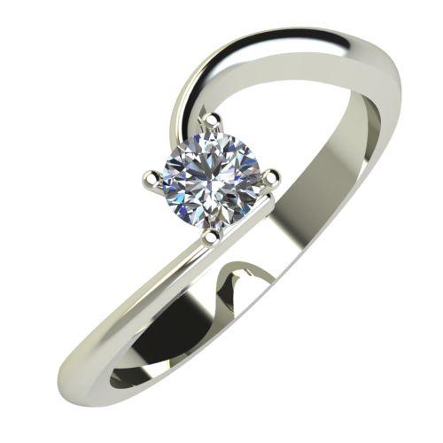 Годежен Пръстен бяло злато с диамант Arch 0,17 ct. 740