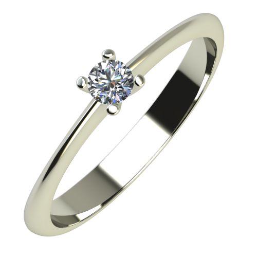 Годежен Пръстен бяло злато с диамант Cante 0,07 ct. 613