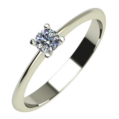 Годежен Пръстен бяло злато с диамант Cante 0,12 ct. 612