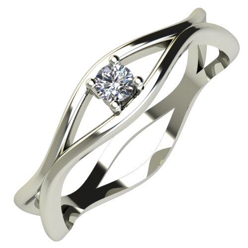 Годежен Пръстен бяло злато с диамант Cate 0,04 ct. 711