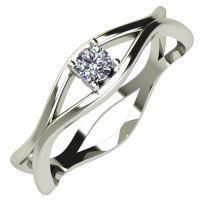 Годежен Пръстен бяло злато с диамант Cate 0,07 ct. 714