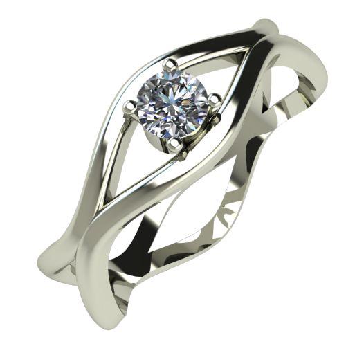 Годежен Пръстен бяло злато с диамант Cate 0,12 ct. 340
