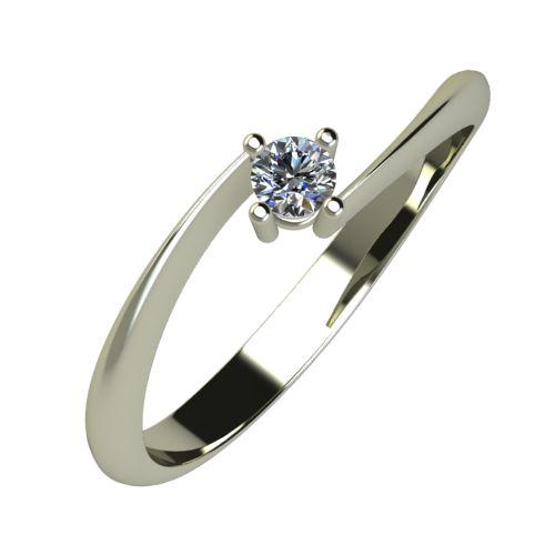 Годежен Пръстен бяло злато с диамант Chase 0,07 ct. 852