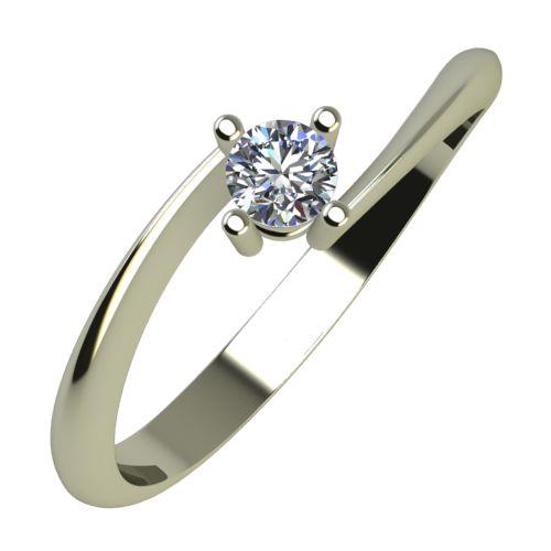 Годежен Пръстен бяло злато с диамант Chase 0,12 ct. 854