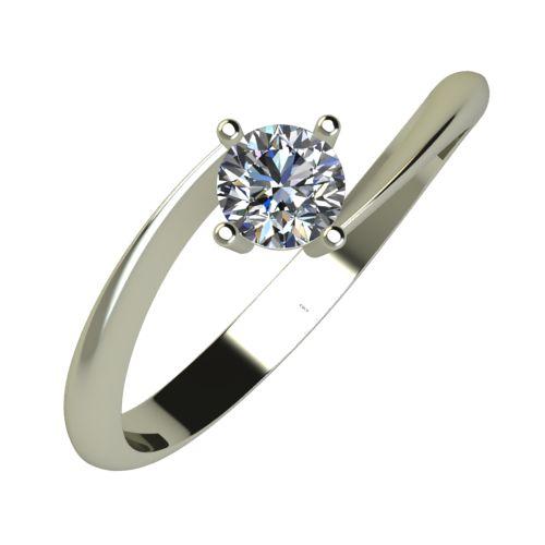 Годежен Пръстен бяло злато с диамант Chase 0,25 ct. 869