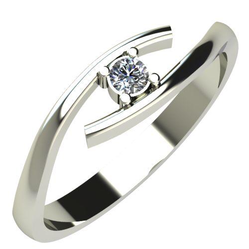 Годежен Пръстен бяло злато с диамант Close 0,04 ct. 241