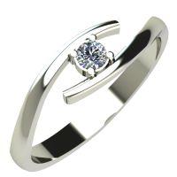 Годежен Пръстен бяло злато с диамант Close 0,07 ct. 242