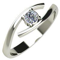 Годежен Пръстен бяло злато с диамант Close 0,12 ct. 243