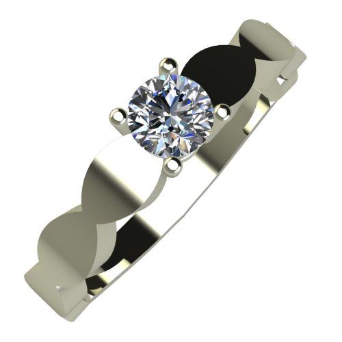 Годежен Пръстен бяло злато с диамант Crown 0,17 ct. 873