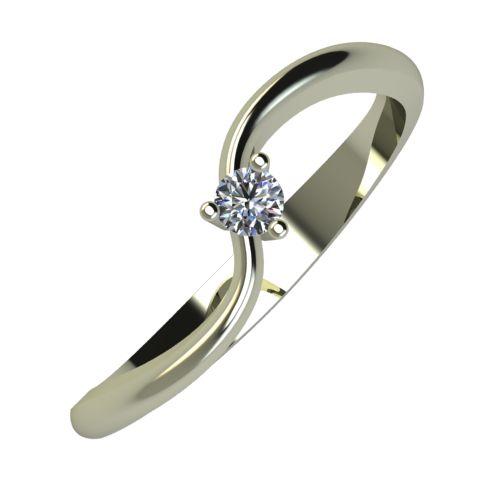 Годежен Пръстен бяло злато с диамант Eight 0,04 ct. 870
