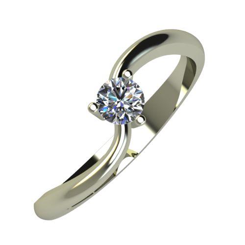 Годежен Пръстен бяло злато с диамант Eight 0,17 ct. 871
