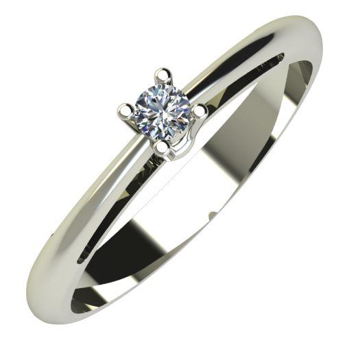 Годежен Пръстен бяло злато с диамант Ether 0,04 ct. 655