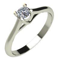 Годежен Пръстен бяло злато с диамант Ether 0,07 ct. 528
