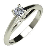 Годежен Пръстен бяло злато с диамант Ether 0,07 ct. 529