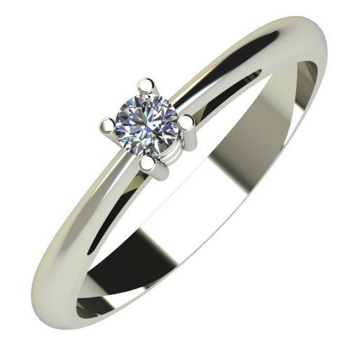 Годежен Пръстен бяло злато с диамант Ether 0,07 ct. 639