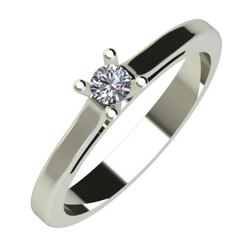 Годежен Пръстен бяло злато с диамант Ether 0,12 ct. 646