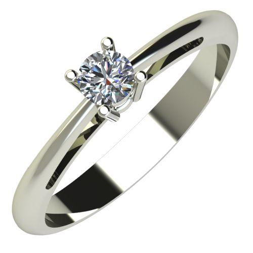 Годежен Пръстен бяло злато с диамант Ether 0,12 ct. 653
