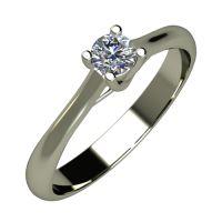 Годежен Пръстен бяло злато с диамант Ether 0,12 ct. 866