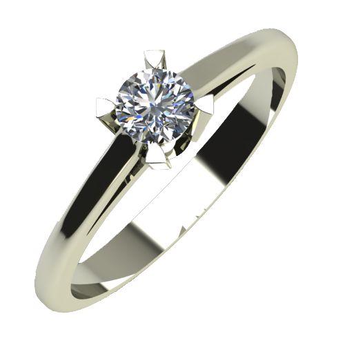 Годежен Пръстен бяло злато с диамант Ether 0,17 ct. 736