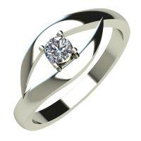 Годежен Пръстен бяло злато с диамант Eyes 0,04 ct. 606
