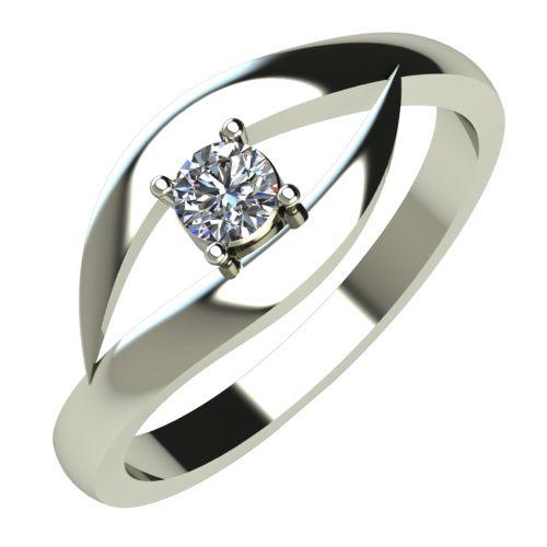 Годежен Пръстен бяло злато с диамант Eyes 0,07 ct. 248
