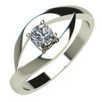 Годежен Пръстен бяло злато с диамант Eyes 0,17 ct. 509