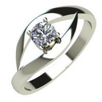Годежен Пръстен бяло злато с диамант Eyes 0,25 ct. 510