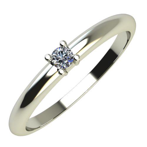 Годежен Пръстен бяло злато с диамант Fill 0,04 ct. 651