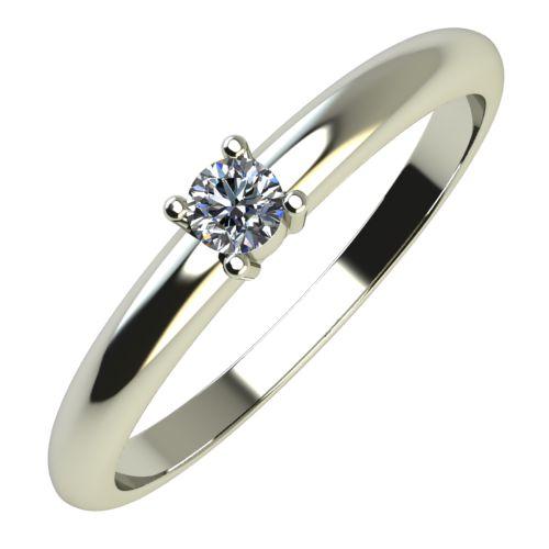 Годежен Пръстен бяло злато с диамант Fill 0,07 ct. 640