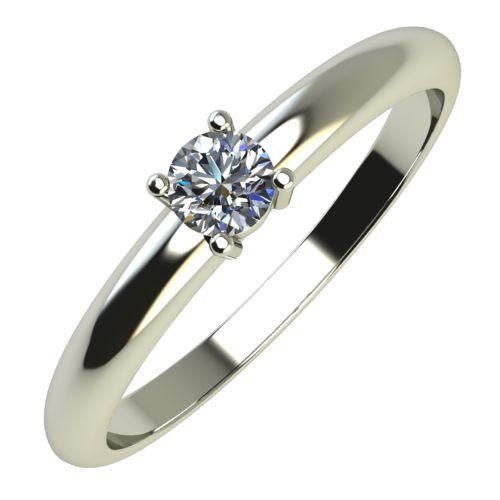 Годежен Пръстен бяло злато с диамант Fill 0,12 ct. 641