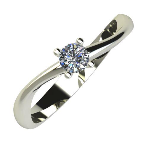Годежен Пръстен бяло злато с диамант Fits 0,12 ct. 845