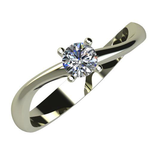 Годежен Пръстен бяло злато с диамант Fits 0,17 ct. 875