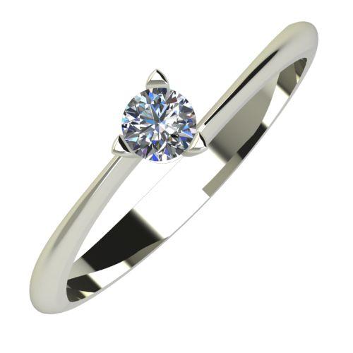 Годежен Пръстен бяло злато с диамант Form 0,12 ct. 656
