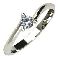 Годежен Пръстен бяло злато с диамант Form 0,12 ct. 660