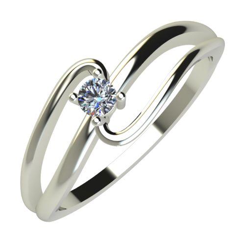 Годежен Пръстен бяло злато с диамант Forth 0,07 ct. 594