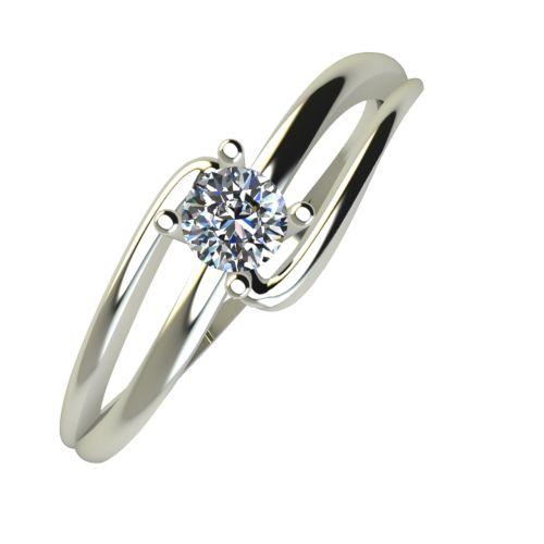 Годежен Пръстен бяло злато с диамант Forth 0,12 ct. 924