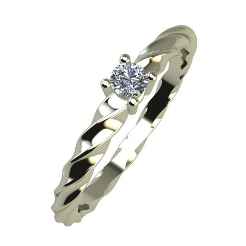 Годежен Пръстен бяло злато с диамант Garland 0,04 ct. 890