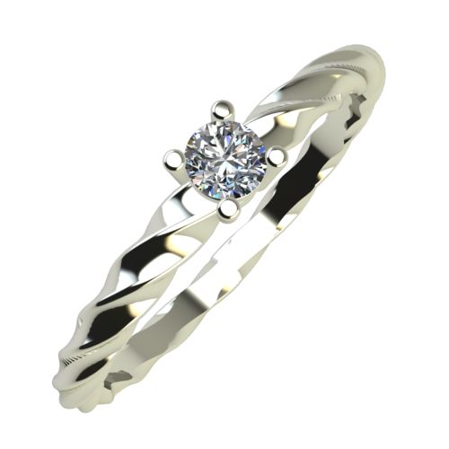 Годежен Пръстен бяло злато с диамант Garland 0,07 ct. 831
