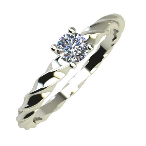 Годежен Пръстен бяло злато с диамант Garland 0,12 ct. 829